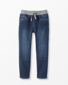 Hanna Andersson Jersey Lined Slim Jeans in Medium-