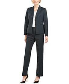 Pinstriped Two-Button Pantsuit