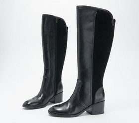 Marc Fisher Medium Calf Leather Tall Shaft Boots -