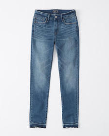 Mid Rise Ankle Jeans, MEDIUM WASH