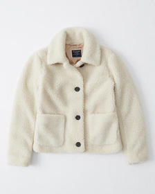 Cozy Teddy Jacket, CREAM