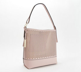 """""""As Is"""" Vince Camuto Leather Perforated Hobo - Lei"""