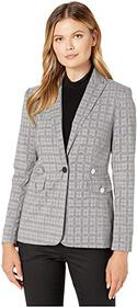 Calvin Klein Calvin Klein - Plaid Blazer with Tabs