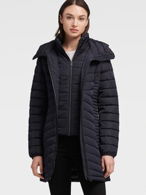 Donna Karan PACKABLE PUFFER JACKET WITH VEST