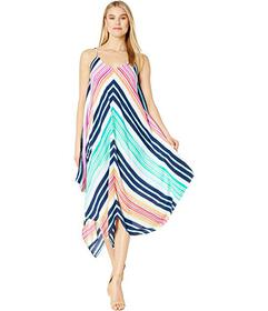Tommy Bahama Rainbow Chevron Scarf Dress