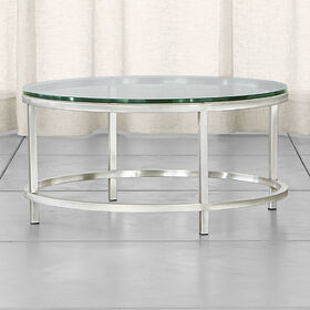 Crate Barrel Era Round Glass Coffee Table