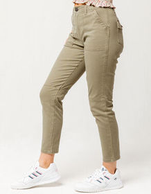 SKY AND SPARROW Twill Utility Womens Pants_