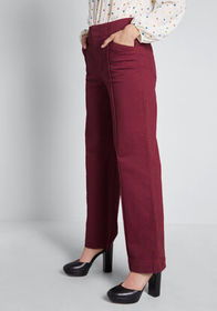 ModCloth The Style is Yours Wide-Leg Pants Burgund