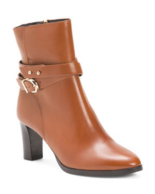 GRIGIARANCIO Made In Italy Leather Booties With Ha