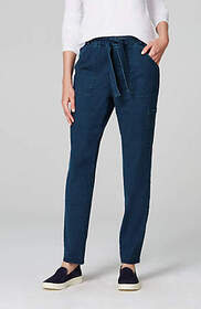 Pure Jill Indigo Knit Cargo Pants