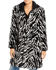 Alice and Olivia - Kylie Faux Fur Coat with Hoodie