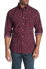 Brooks Brothers Paisley Long Sleeve Regent Fit Shi