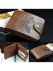 Men's Boys Leather Pockets Credit/ID Cards Holder