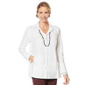 """As Is"" MarlaWynne Luxe StretchTech Shirt with Poc"