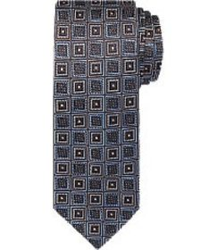 Jos Bank Reserve Collection Mosaic Check Tie CLEAR