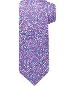 Jos Bank Traveler Collection Floral Tie - Long CLE