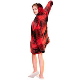 Sherpy Zip-Up Sherpa Hoodie – Red Plaid $23.99$39.