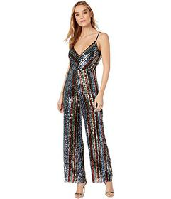 Bebe Back Cowl Neck Sequence Jumpsuit