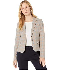 Tommy Hilfiger Plaid One-Button Jacket
