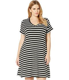 Karen Kane Plus Plus Size Quinn V-Neck Pocket Dres