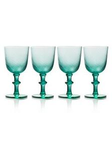 Mikasa Green Set of 4 Goblets