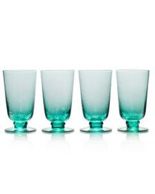 Mikasa Green Set of 4 Iced Beverage Glasses