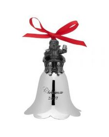 Mikasa 2017 Annual Santa Bell Ornament 26th Editio