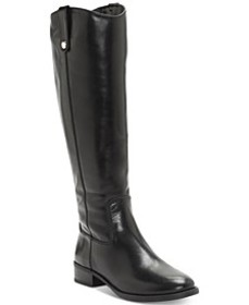 INC Fawne Wide-Calf Riding Leather Boots , Created