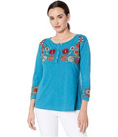 Scully Embroidered Knit Top
