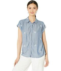Lucky Brand Embroidered Short Sleeve Shirt