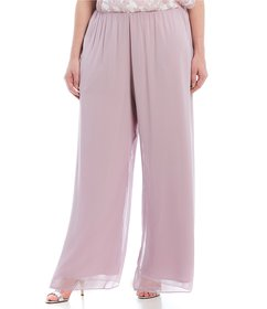Alex Evenings Plus Size Wide Leg Pull-On Pant