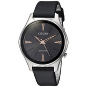 CITIZEN Citizen Eco-Drive Womens Black Dial Silver