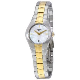 TissotT-Round Mother of Pearl Dial Two-tone Ladies