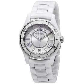 EbelX-1 Silver Dial White Ceramic and Steel Ladies