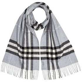BurberryThe Classic Check Cashmere Scarf- Dusty Bl