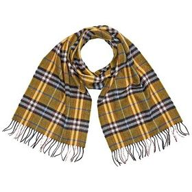 BurberryCastleford Check Cashmere Scarf- Yellow