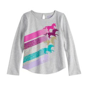 Girls 4-12 Jumping Beans® Glittery Unicorn Graphic