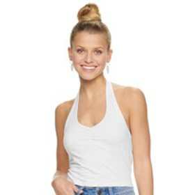 Juniors' SO® Halter Crop Top