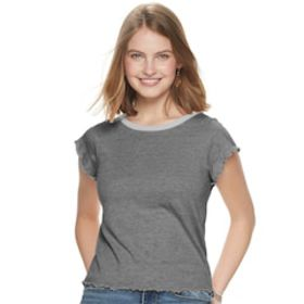 Juniors' Grayson Threads Lettuce Edge Tee