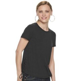 Women's Rock & Republic Side Lace French Terry Tee