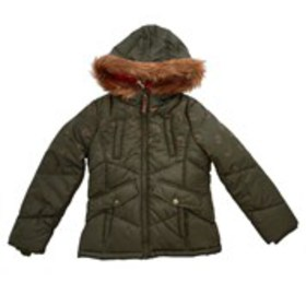 LONDON FOG Girls Faux Fur Hood 3-in-1 Systems Jack