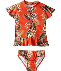 Seafolly Kids Ocean Alley Short Sleeve Rashie Set