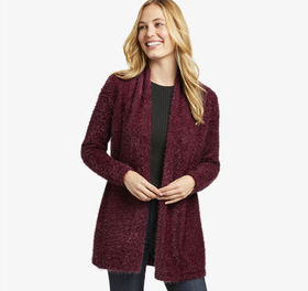 Johnston Murphy Eyelash-Yarn Cardigan