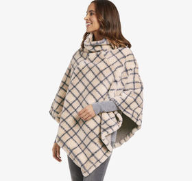 Johnston Murphy Reversible Faux-Fur Poncho