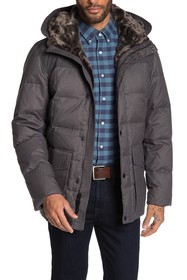 Cole Haan Down Anorak With Faux Fur Trim Hood