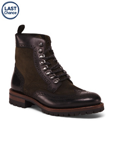 Men's Leather and Suede Boot