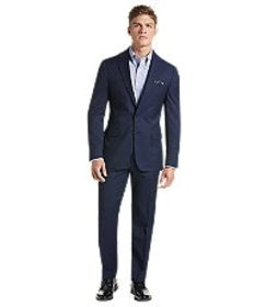 Jos Bank Traveler Collection Slim Fit Micro Grid S
