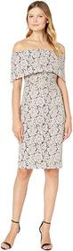 Vince Camuto Off-the-Shoulder Midi Dress with Coll