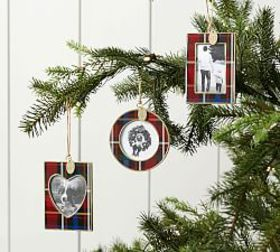 Pottery Barn 2019 Dated Enamel Frame Ornaments - P