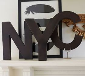 Pottery Barn Metal Letters - Bronze